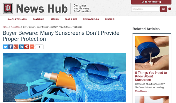 sunscreen warnings
