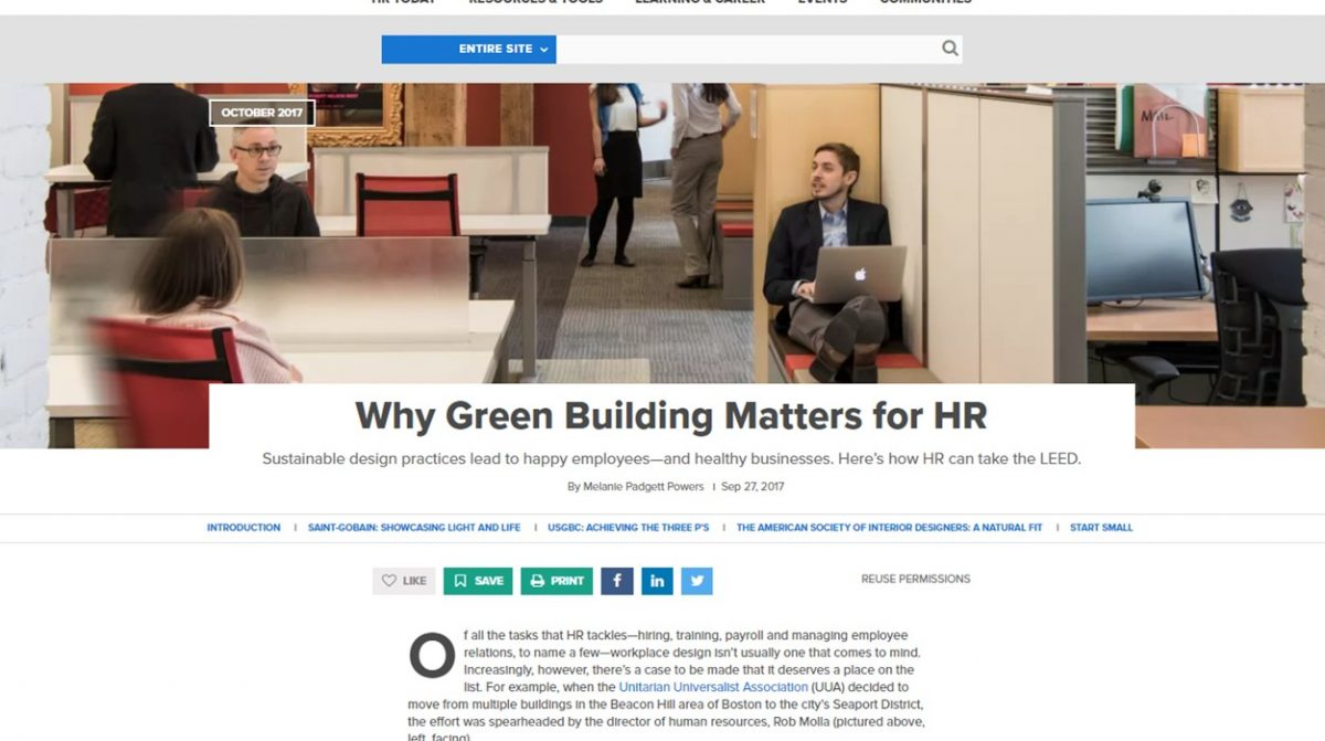 Society for Human Resource Management Green Building