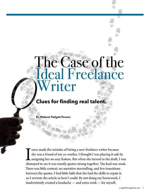 The Case of the Ideal Freelance Writer cover page